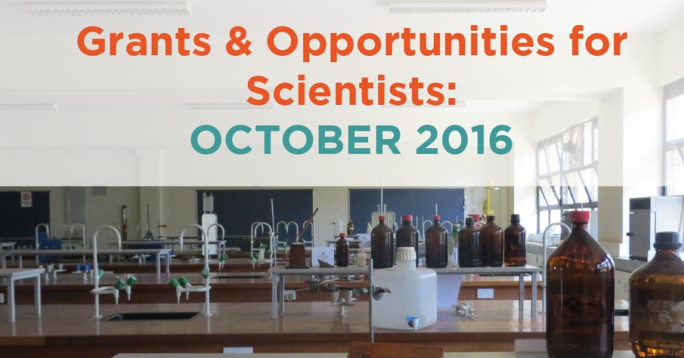 October 2016 Grants & Opportunities