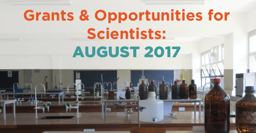 August 2017 grants & resources