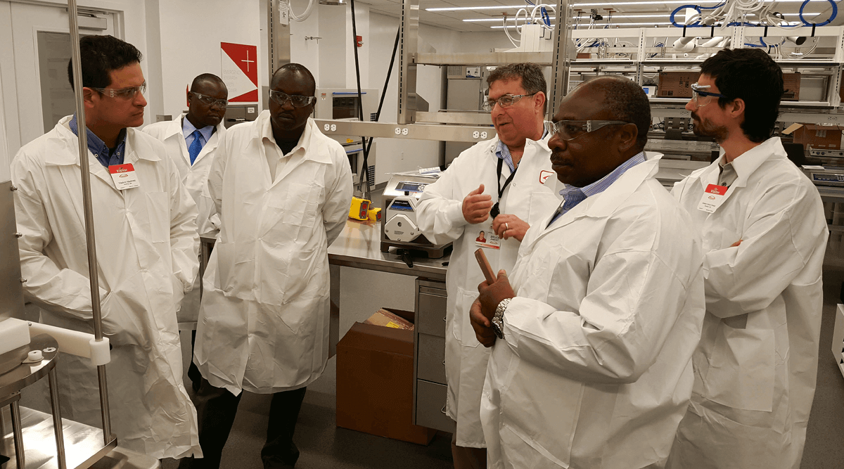 Scientists touring Takeda