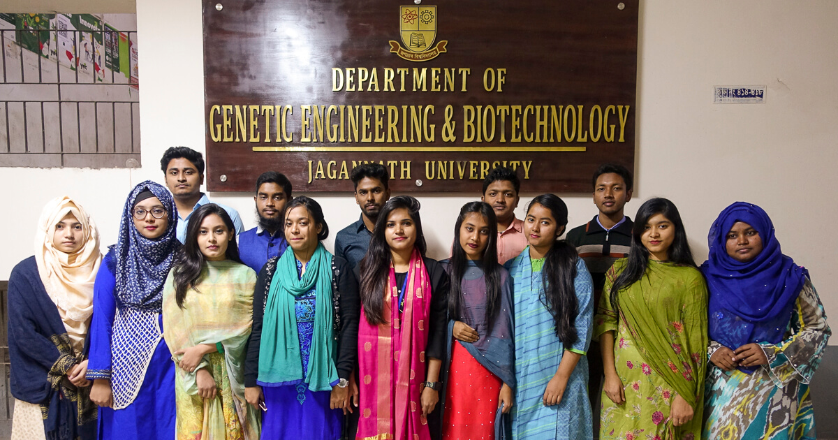 3rd year students in front of office of GEB department