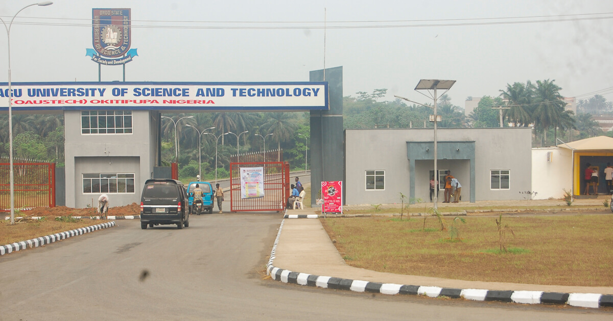 Main Entrance Ondo State University of Science and Technology Okitipupa y