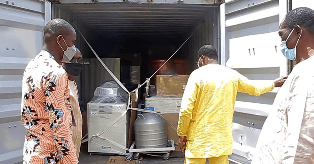 Shipment arriving at UAC