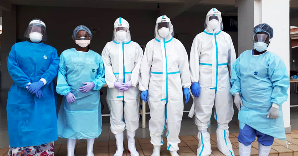 MUST Scientists in PPE