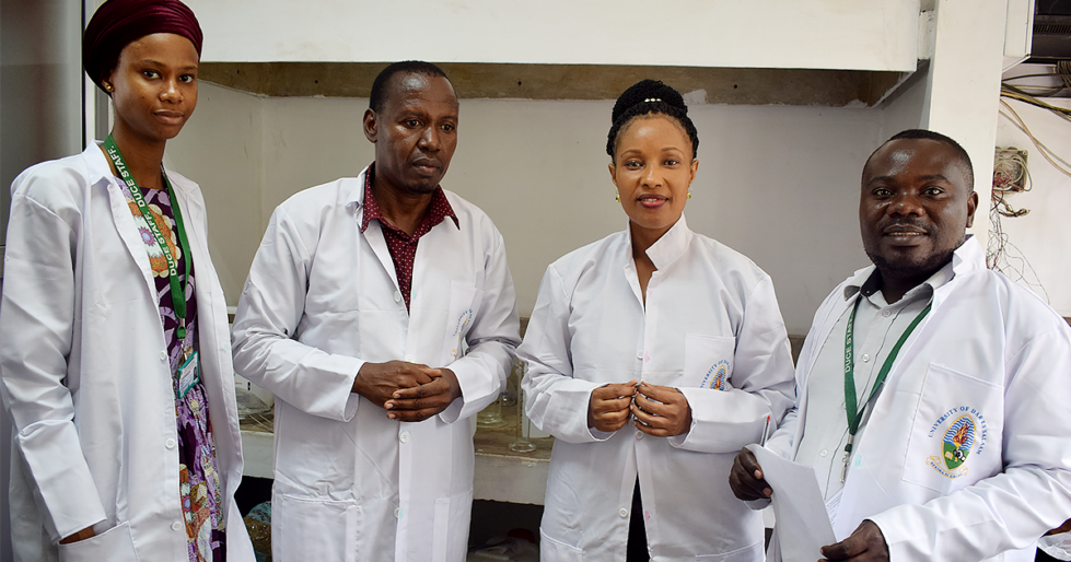 Chemistry researchers at the Dar es Salaam University College of Education