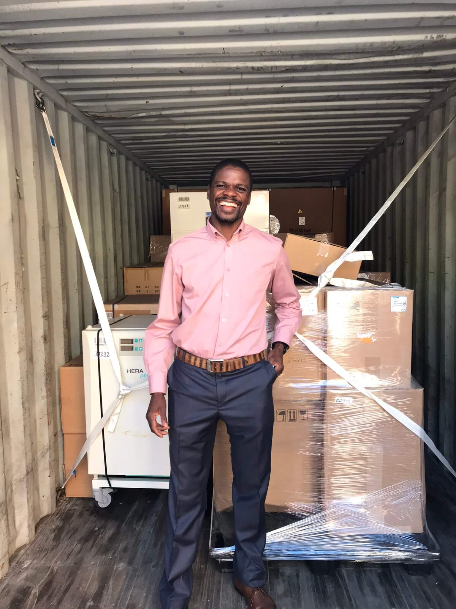 Equipment arriving at UNam
