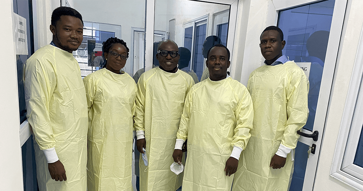 UENR Biology faculty in the Infections Disease Research Lab