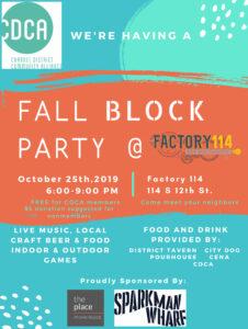 Fall Neighborhood Block Party @ Factory 114