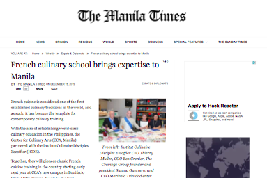 French culinary school brings expertise to Manila – The Manila Times Online