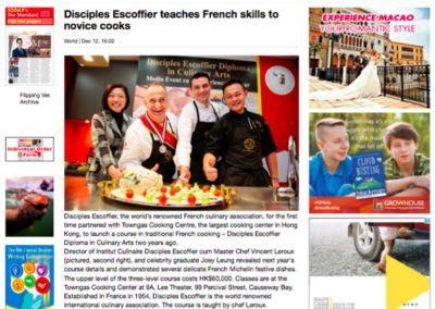 Disciples Escoffier teaches French skills to novice cooks – The Standard 12.12.2016