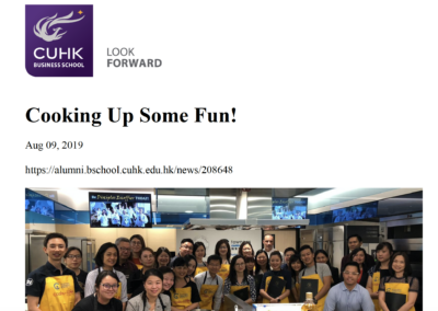 CUHK Business School at ICDE 09.08.2019