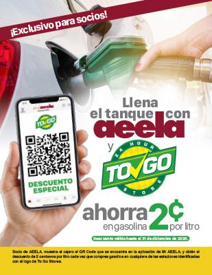 Llena el tanque con AEELA y ToGo Store