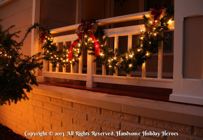 Christmas Light Garland Installation