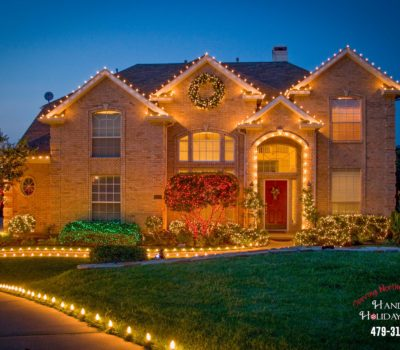 House In Bentonville Arkansas With Christmas Lights