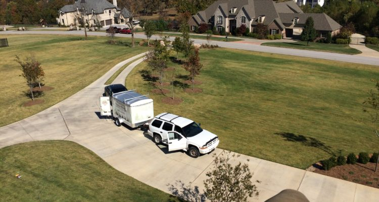 Christmas Light Installer Truck And Trailer In Northwest Arkansas