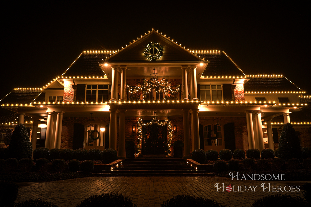 Christmas decorated home in Fayetteville Arkansas