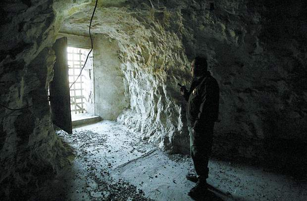 Nevada State Prison cave a view from the inside