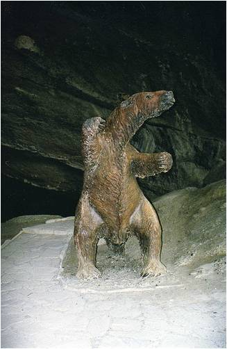 Giant Sloth standing upright.