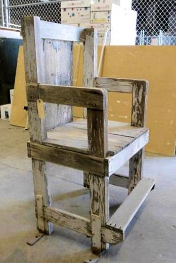 Nevada State Prison, Early Wood Chair for Gas Chamber