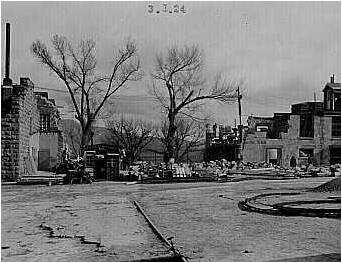 Nevada State Prison, 1924 Demolition of the North Wing