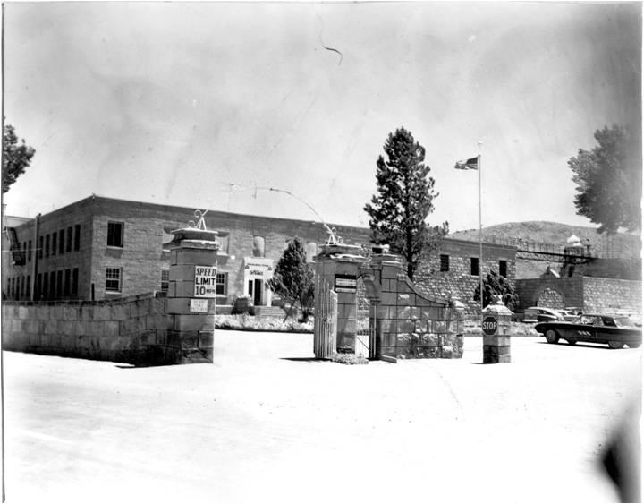 Nevada State PRison, Front Entrance 1962-1963