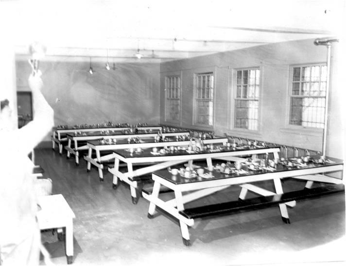 Nevada State PRison, Prison dining room circa 1950