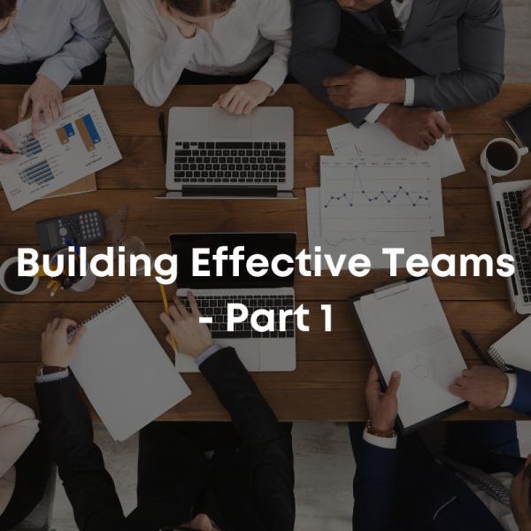 Building Effective Teams - Part 1