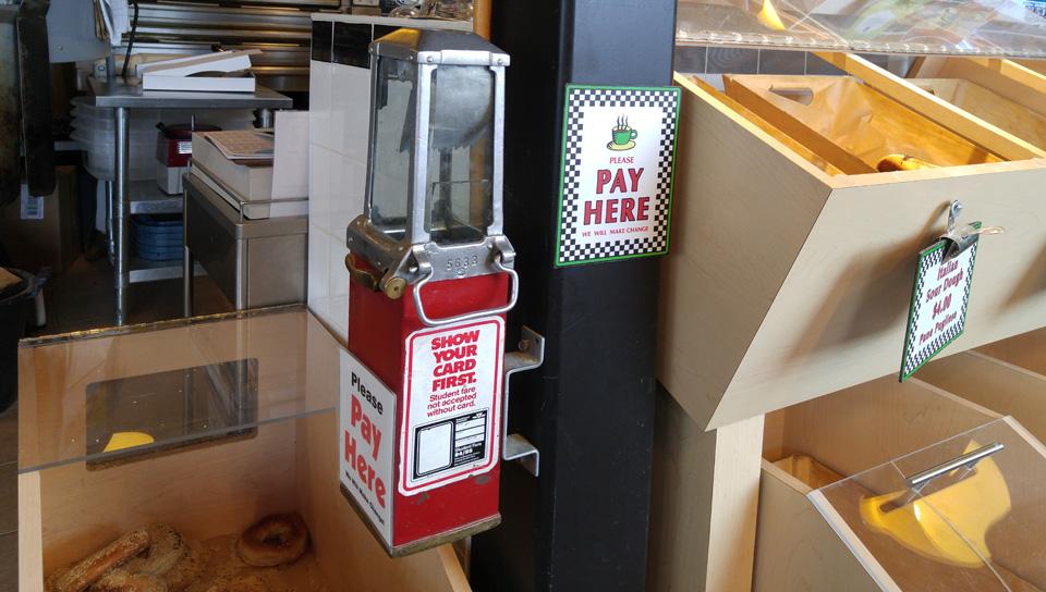 Self Serve Pay Here terminal