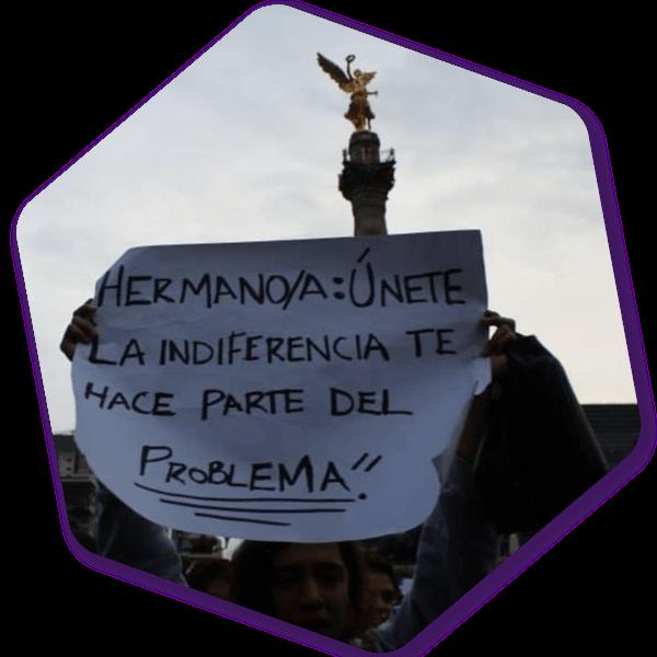 Manifestación de activistas
