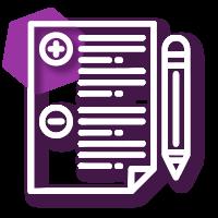 Icono diseño de proyetos sociales, monitoreo y evaluación