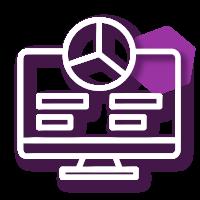 Icono de monitoreo y evaluación para diseño de proyectos sociales, monitoreo y evaluación