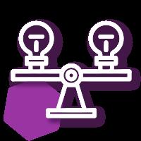 Icono de replica de diseño proyectos sociales, monitoreo y evaluación