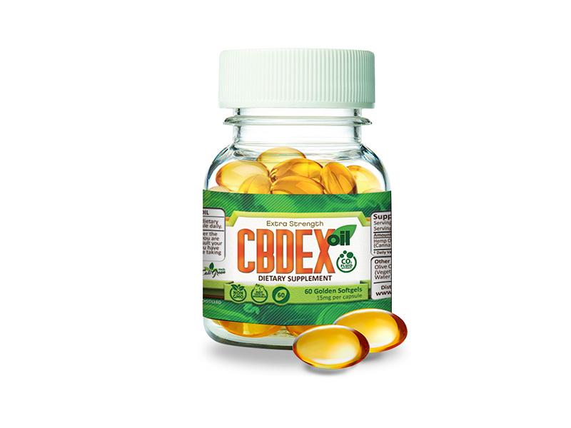 CBDEX 60 Golden Softgel 15mg
