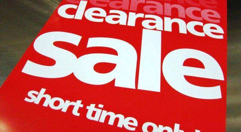 Clearance Sale