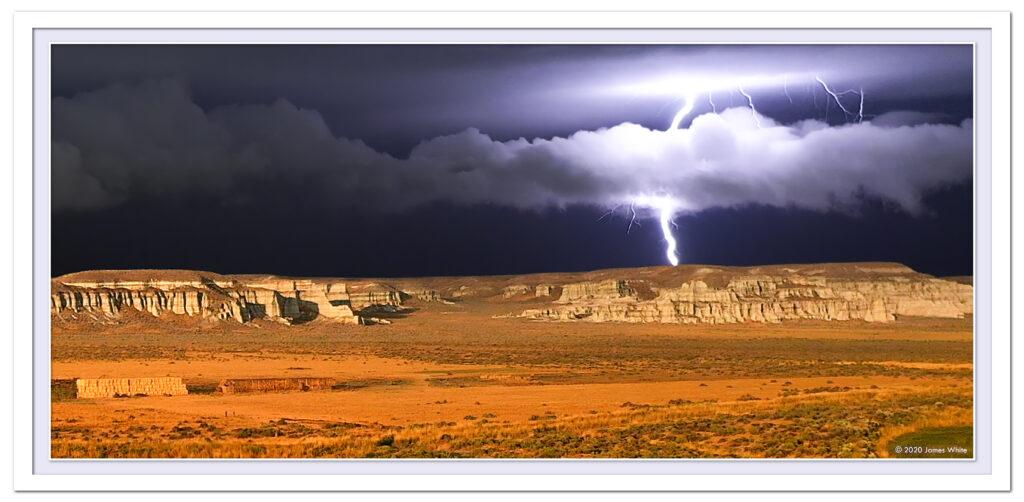 Lightning striking the ground