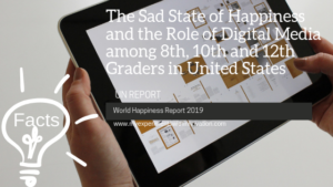 The Sad State of Happiness and the Role of Digital Media among 8th, 10th and 12th Graders in United States
