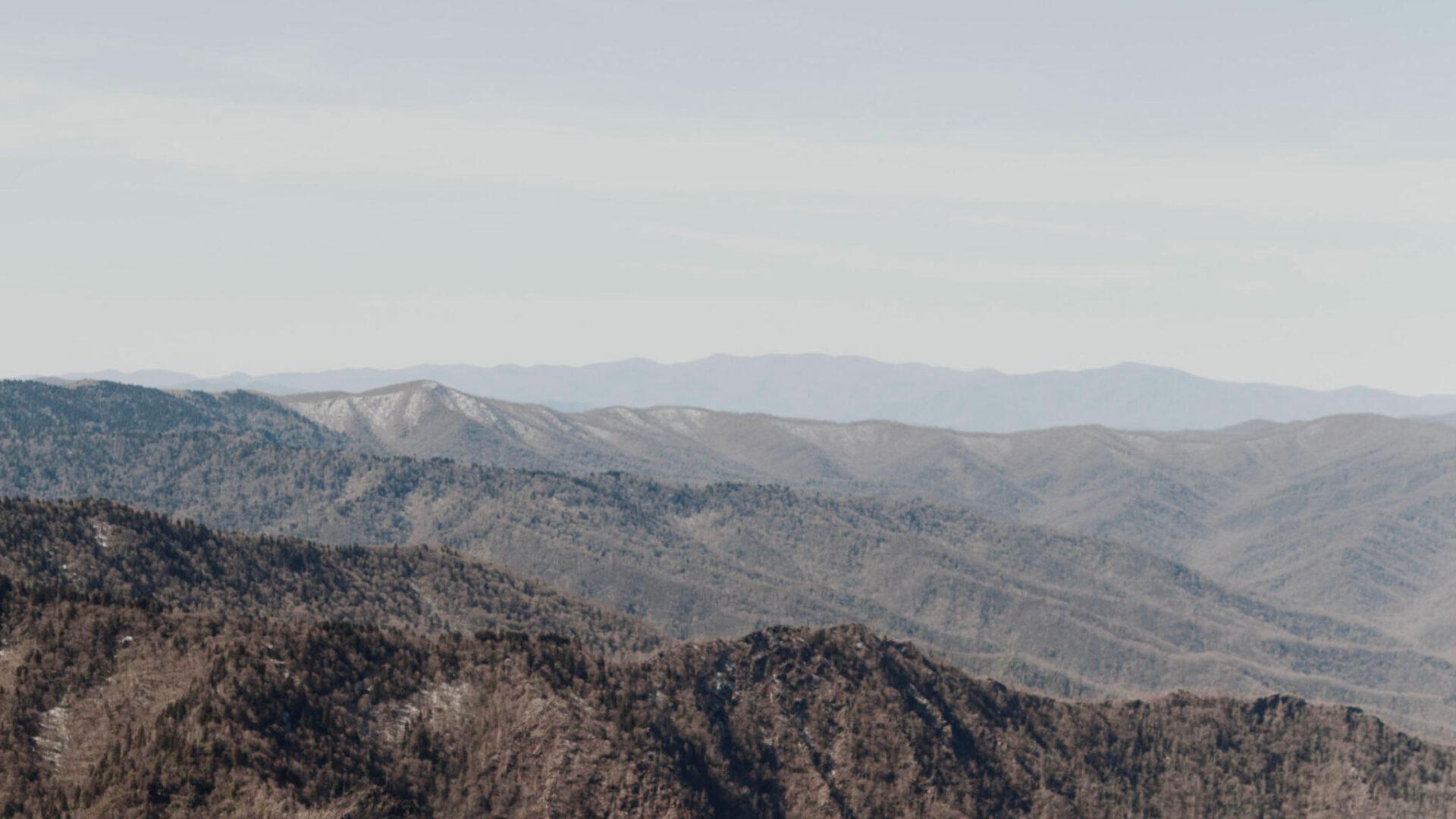 Brown and gray mountain range