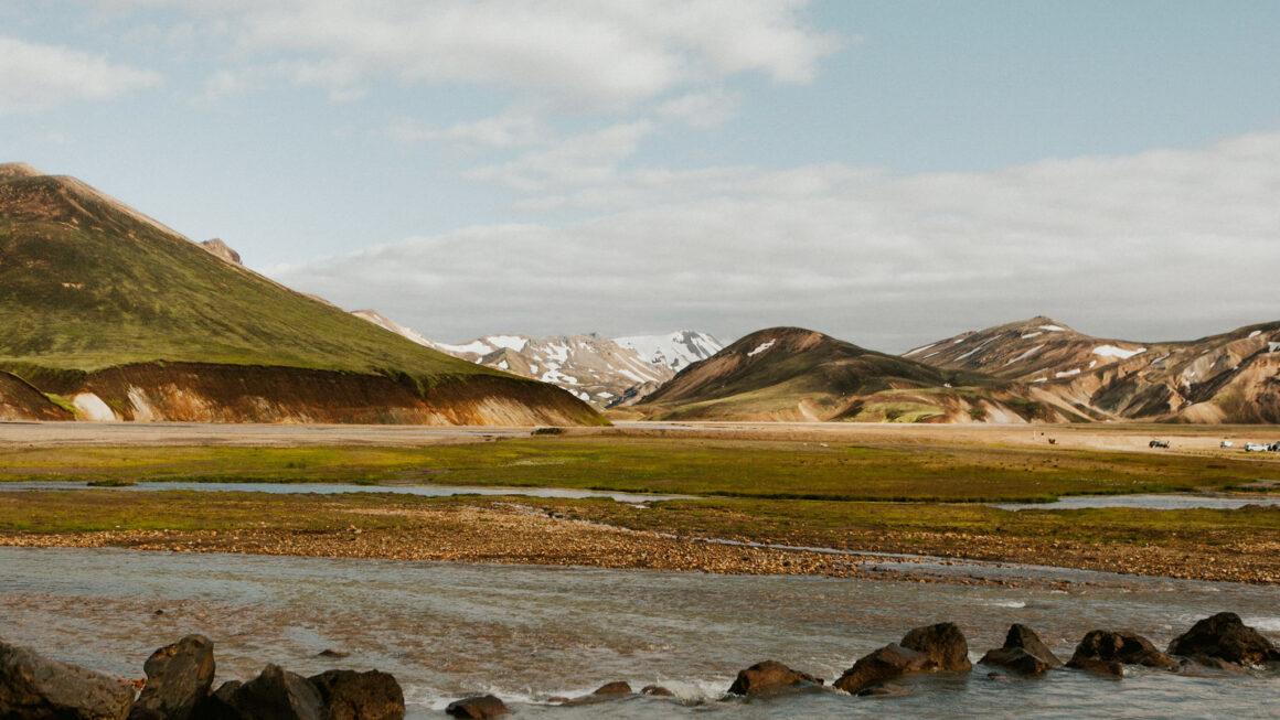 Landscape image of mountain range