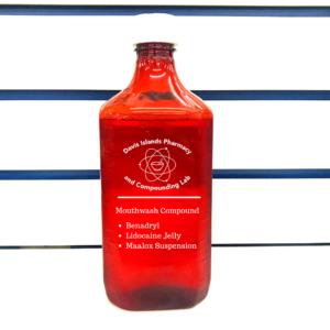 Mouthwash-Compound: lidocaine, benadryl, maalox