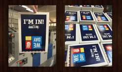 Gearing up for the Seahawks with a fun print project for WE DAY 2015!