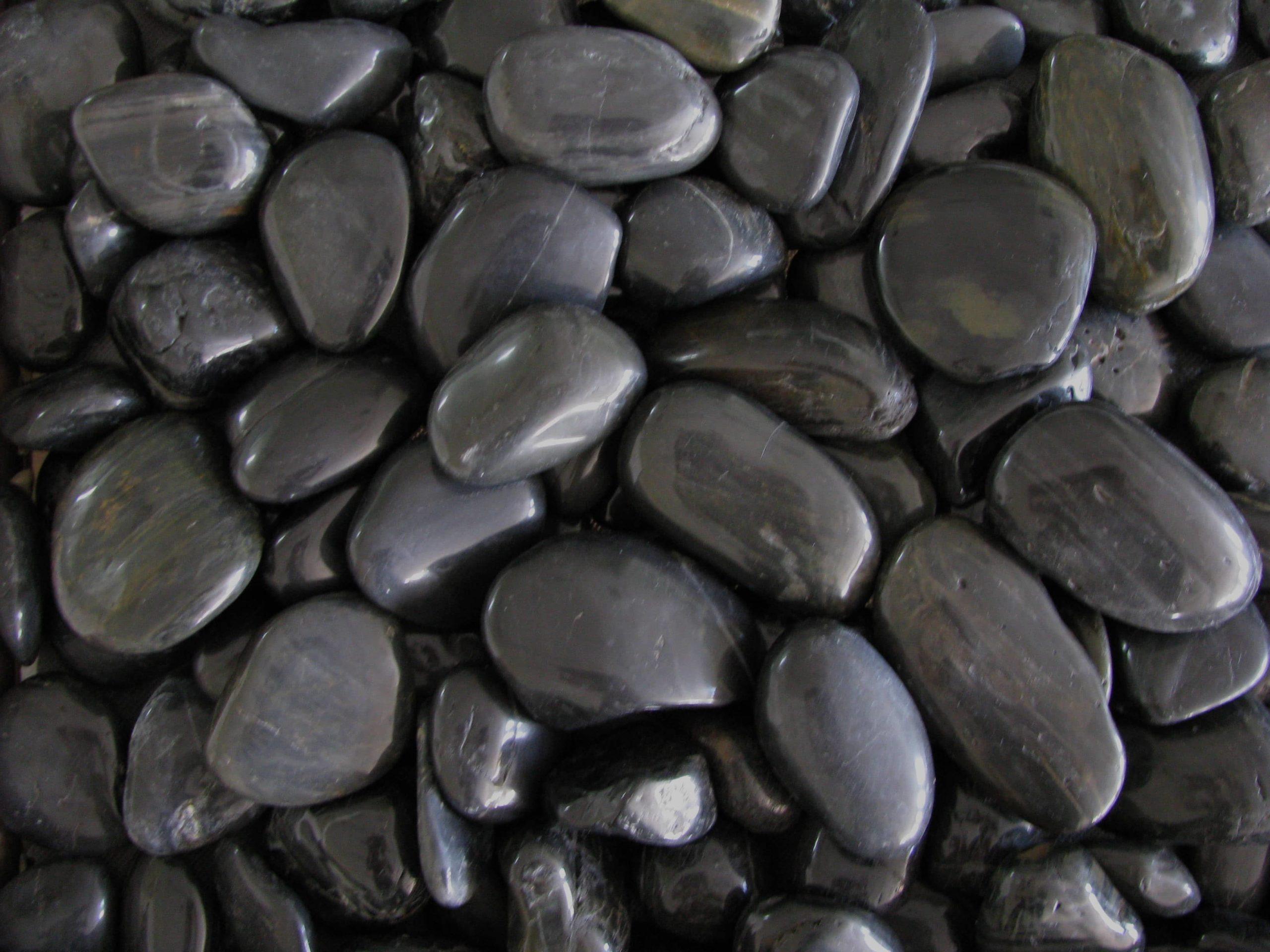Black High Polished Pebble