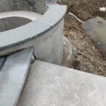 custom spa radius with spill way stone