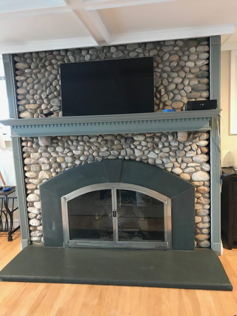 radius bluestone fire place