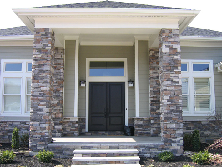 front entrance cultured stone