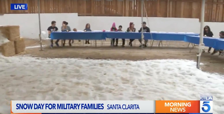 Homes 4 Families Makes it Snow in Santa Clarita!