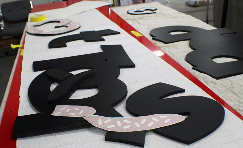 Pop & Twist Sign Fabricated letters