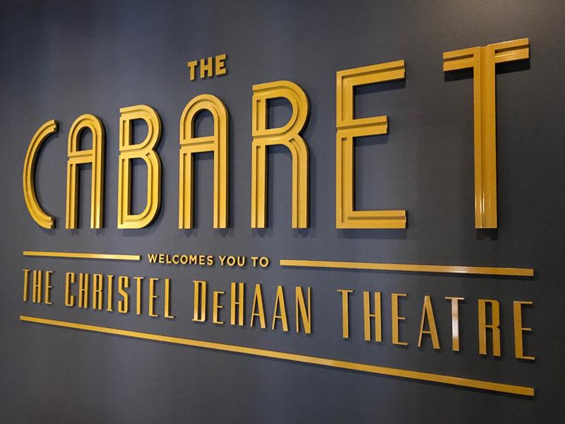 The Cabaret Interior Sign