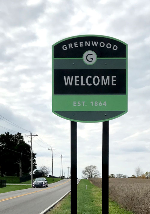 Greenwood Welcome Exterior Sign
