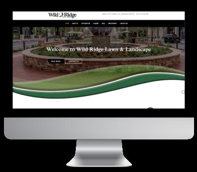 Wild Ridge Website on iMac
