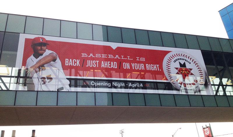 Indianapolis Indians JW Marriott Walkway sign