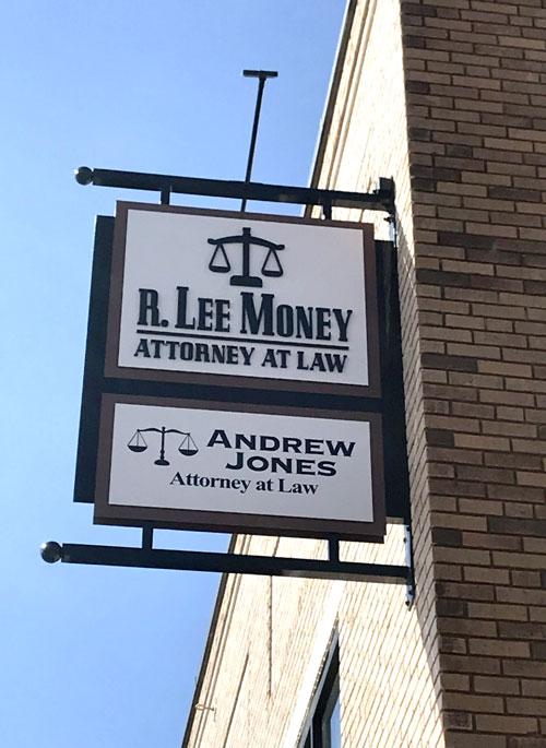 R. Lee Money Exterior Sign